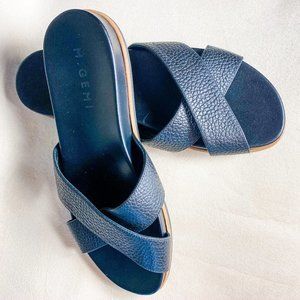 M. Gemi leather sandals slides